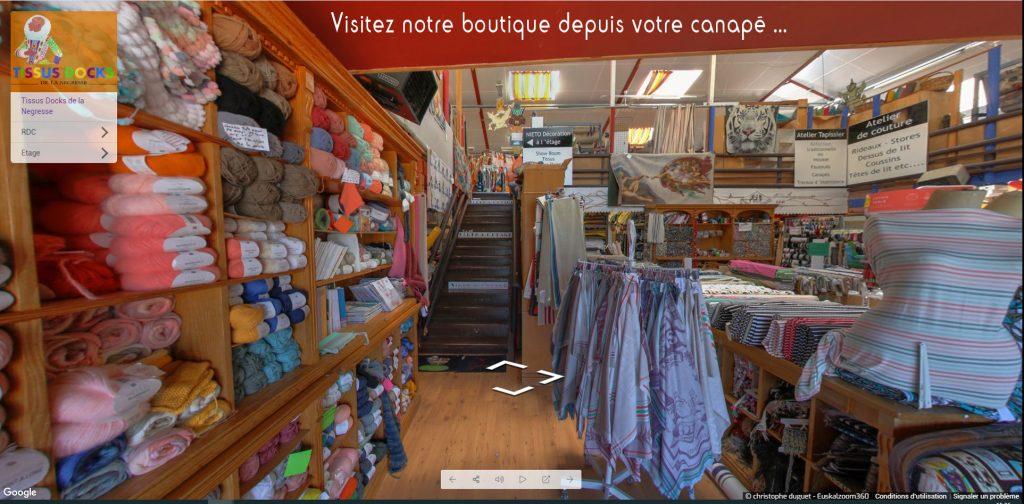 visitez notre boutique de tissus à biarritz depuis votre canapé
