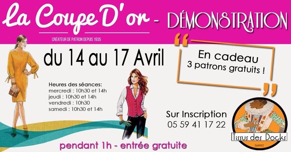 """Démonstration """"la coupe d'or"""" du 14 au 17 Avril 2021 au tissu des docks à Biarritz"""
